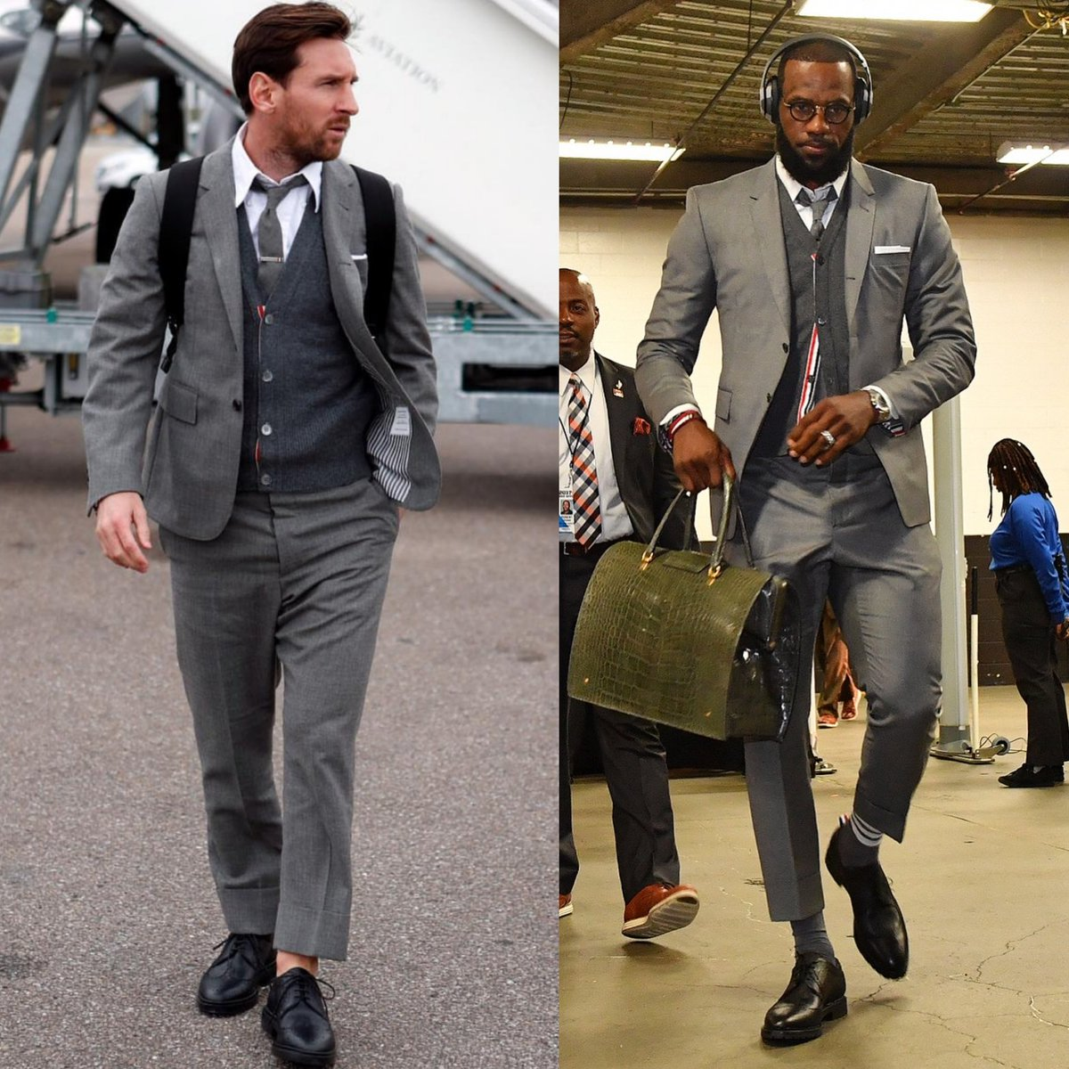 Lionel Messi And Lebron James Wear Identical Thom Browne Suits