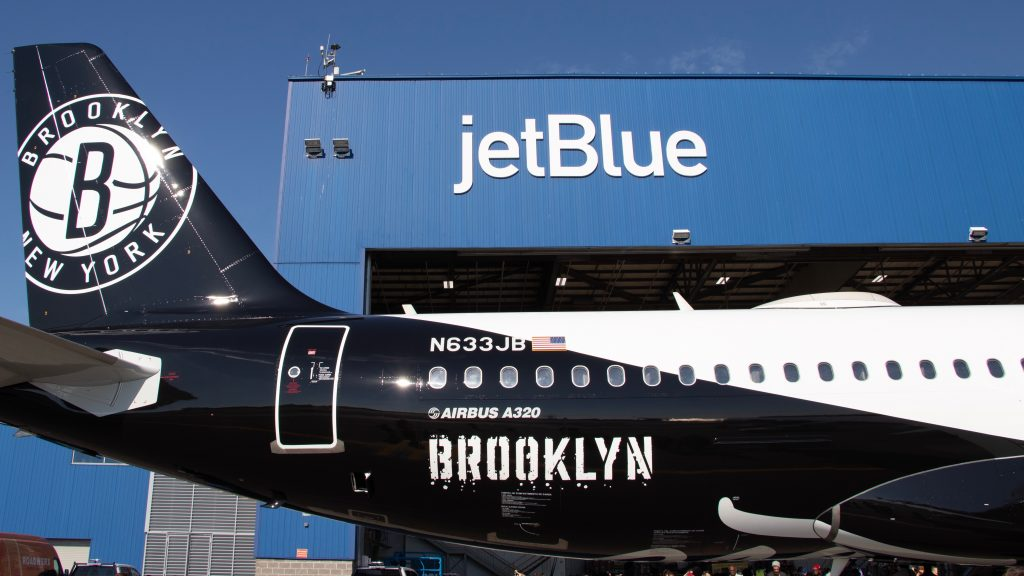 JetBlue And Brooklyn Nets Extend Partnership W/ Custom Jet