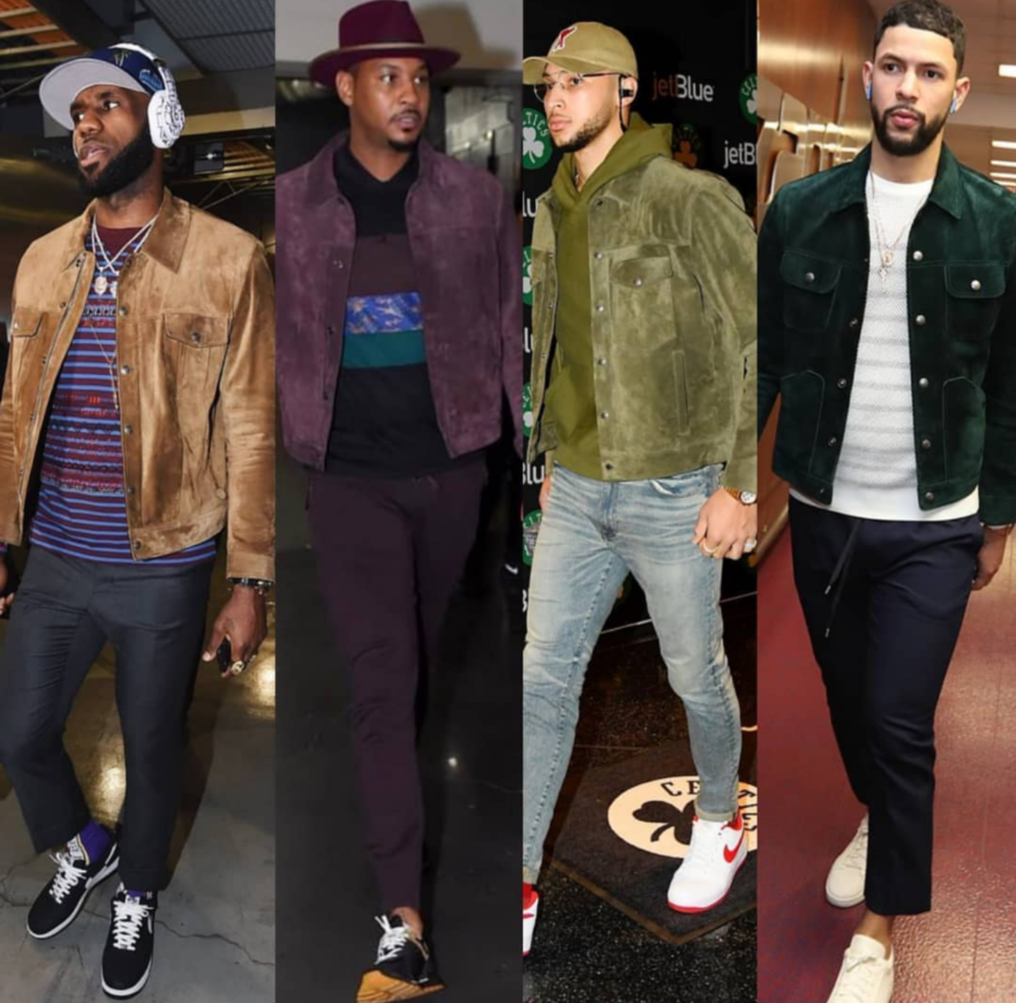 Suede Jacket, A Must Have: Thanks To Lebron James, Carmelo Anthony, Ben Simmons And Austin Rivers