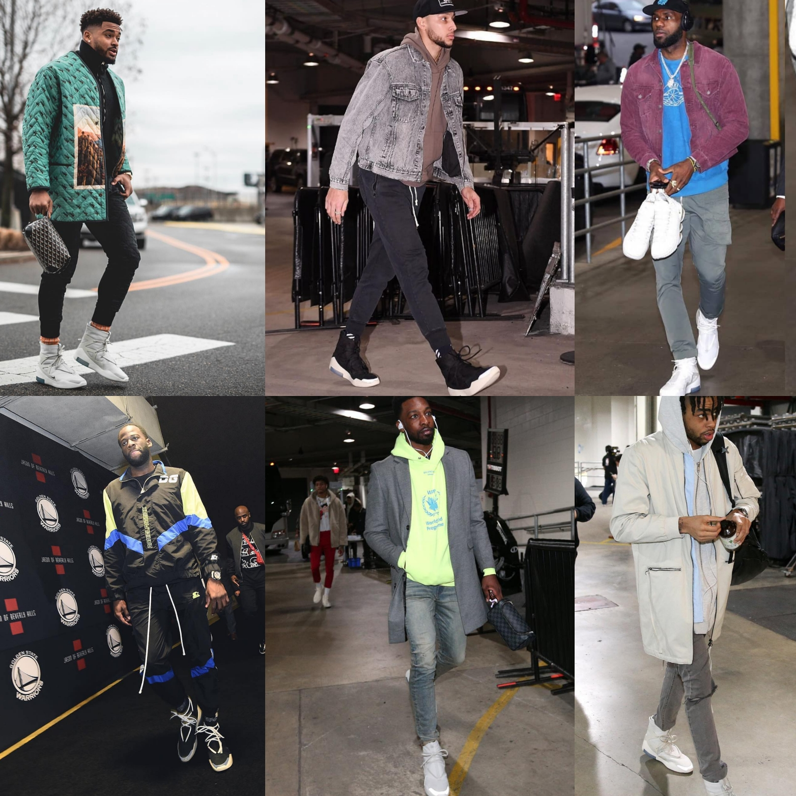 Nike Air Fear Of God 1: Lebron James, Ben Simmons, Draymond Green, Jamal Adams OR Jeff Green..Who Wore it best?