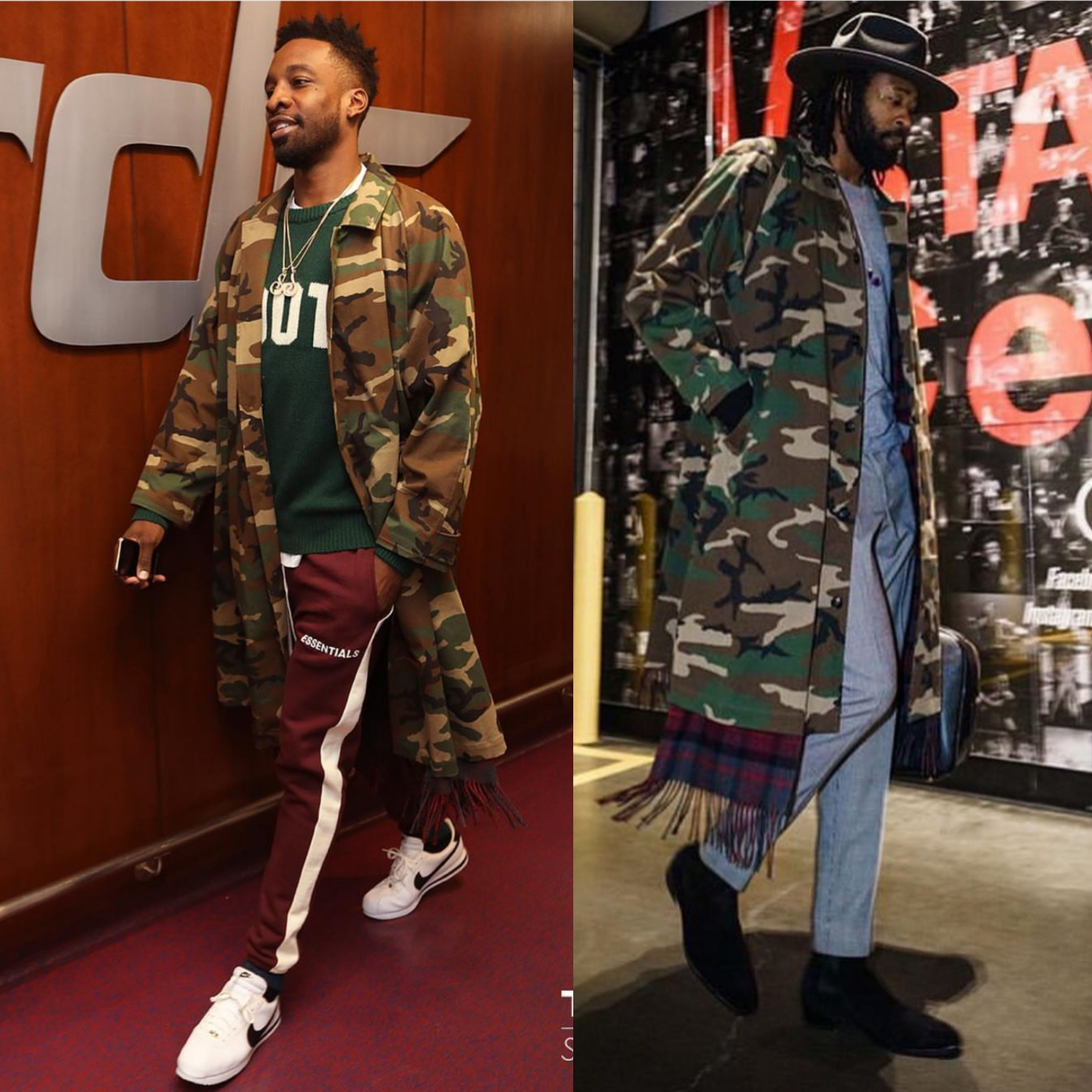 Jeff Green OR Deandre Jordan In Vetements Camouflage Jacket
