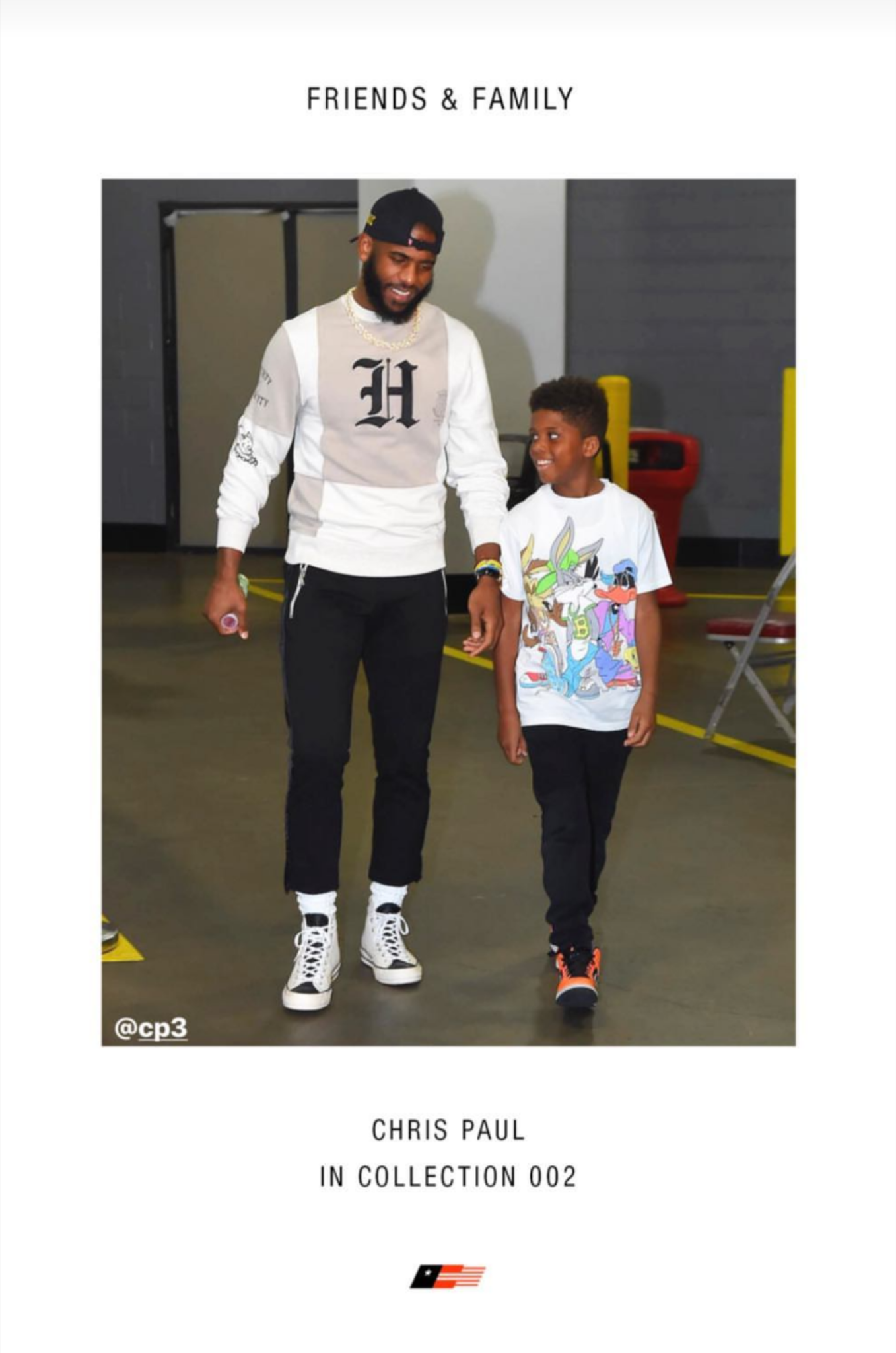 """Chris Paul Wears Russell Westbrook's """"Honor The Gift"""" Clothing Collection"""