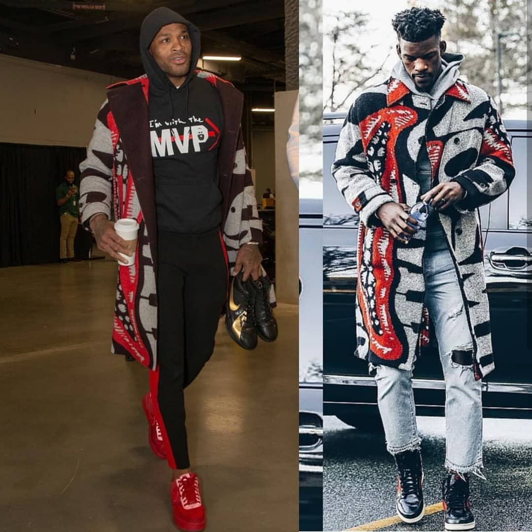 PJ Tucker Or Jimmy Butler In Stella McCartney Intarsia Coat. Who Wore It Best?