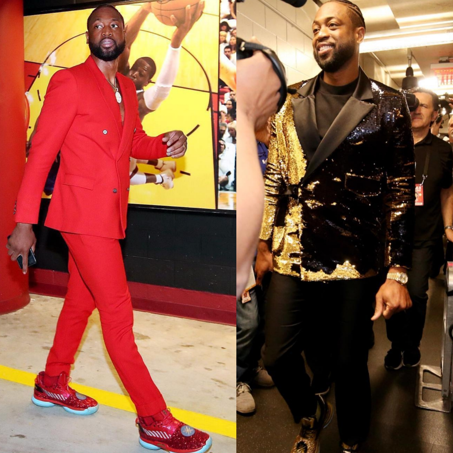 Dwyane Wade Stands Out In Bold Suits For His Final Two NBA Games