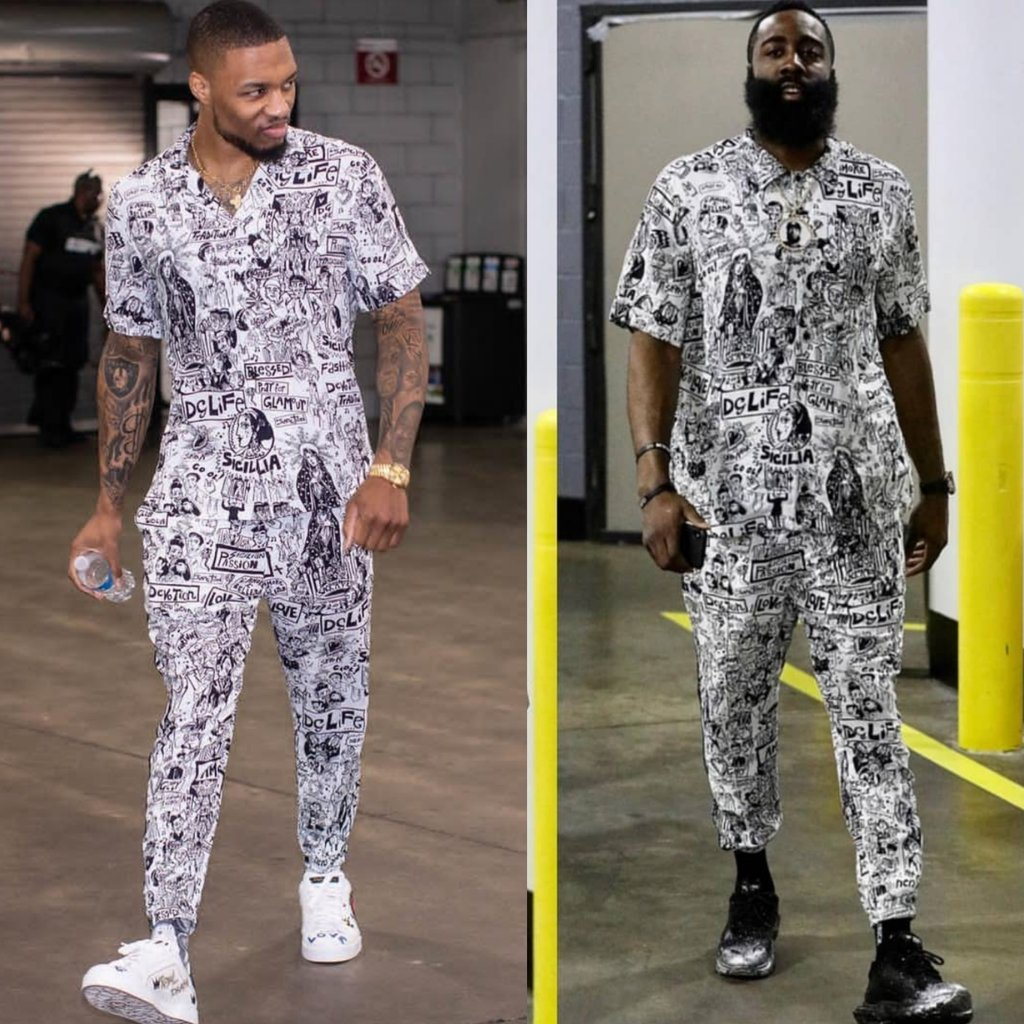 Damian Lillard & James Harden NBA Playoffs 2019 Dolce & Gabbana Print Set. WHO WORE IT BEST?