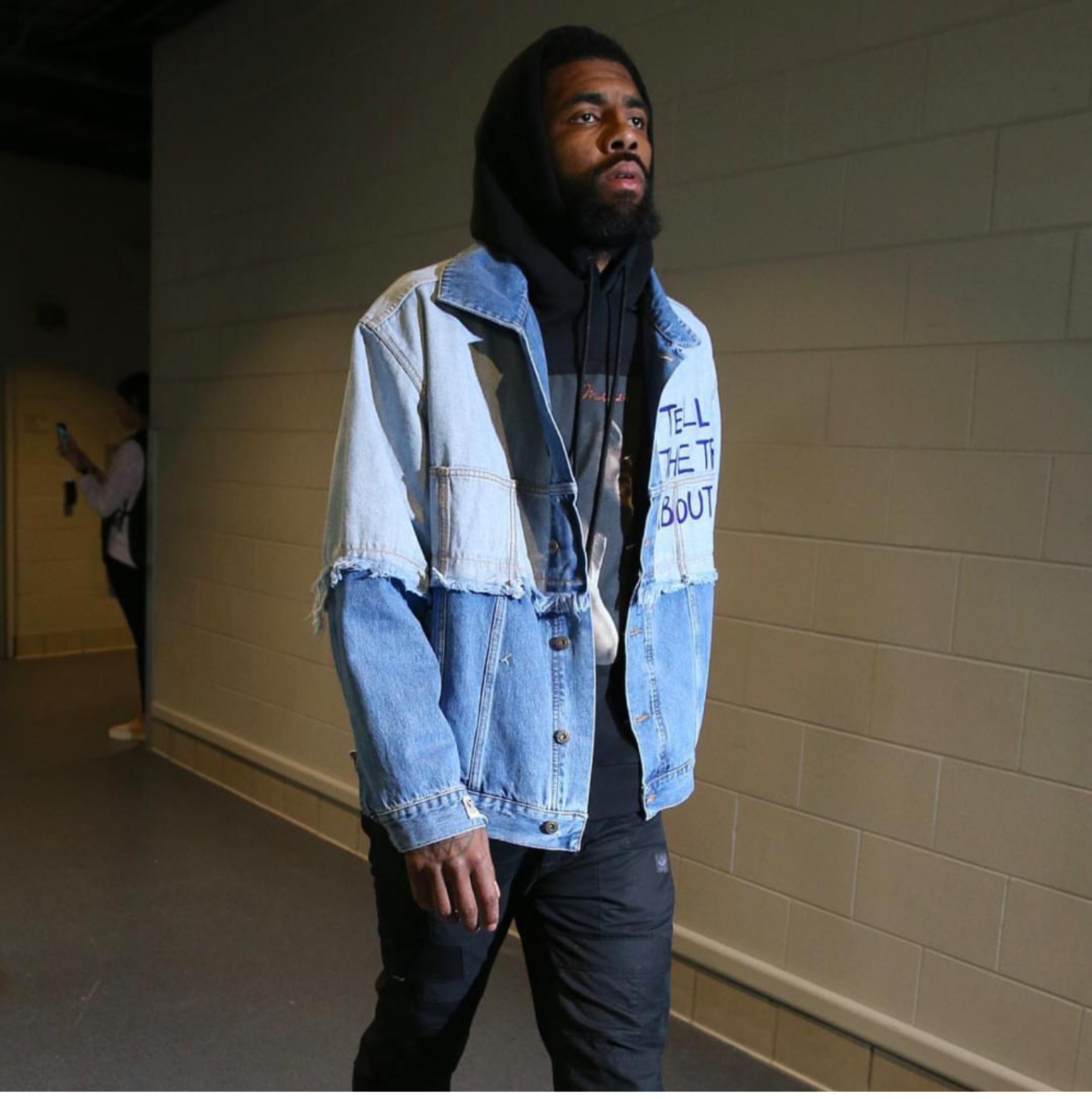 Kyrie Irving's NBA Playoffs 2019 Faith Connexion Denim Jacket