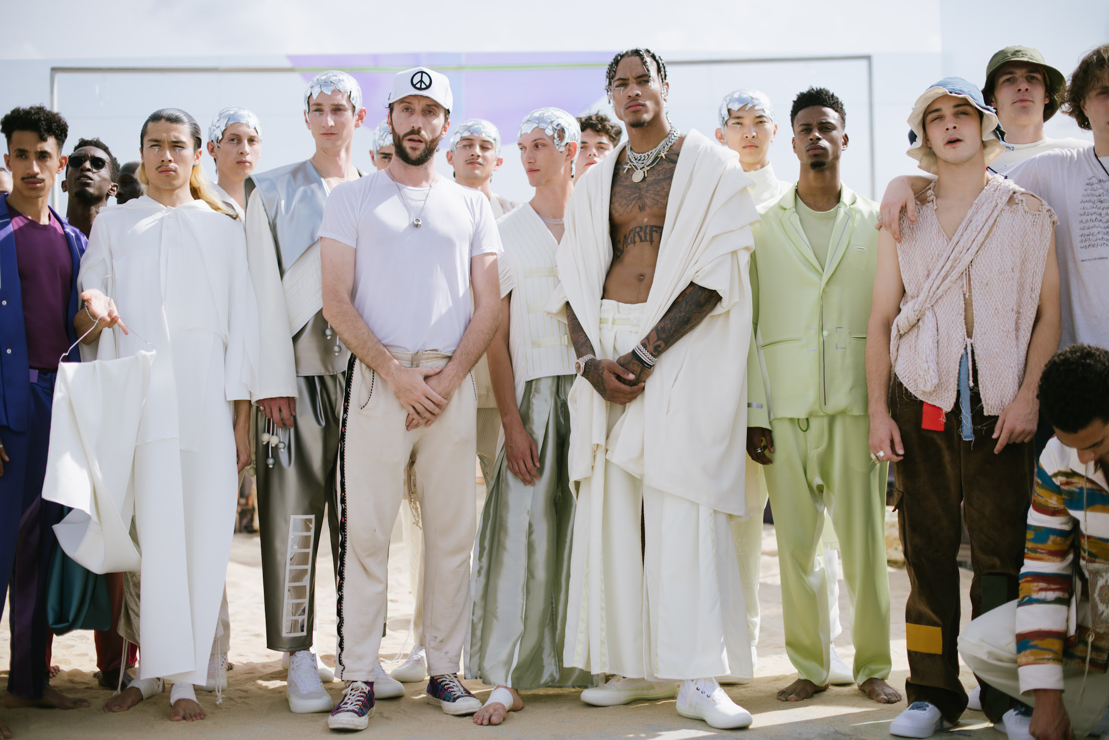 Kelly Oubre Jr. Debuts Converse x Pigalle All Star Pro BB At Pigalle SS20 Paris Fashion Week Presentation