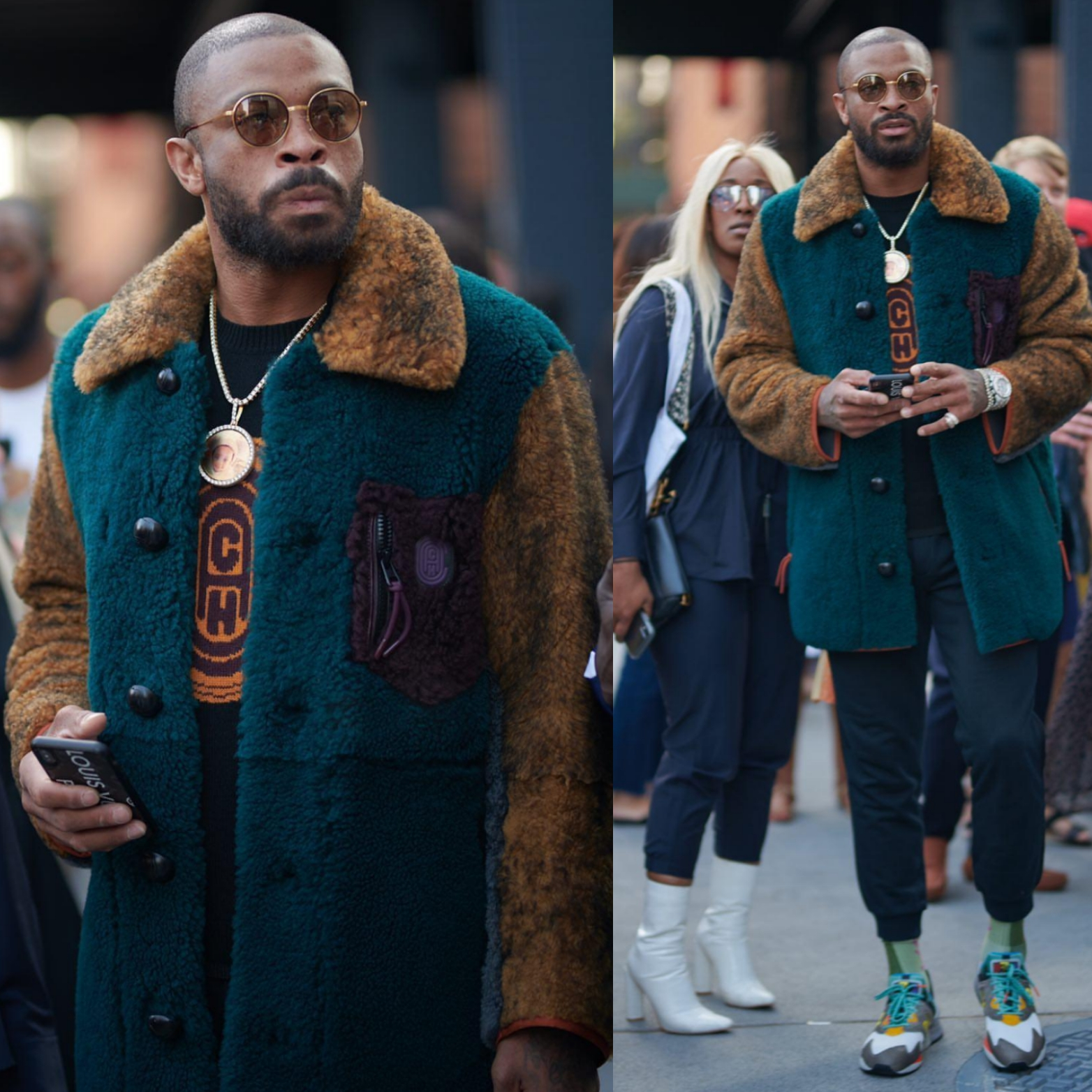 P.J. Tucker Was Everywhere For New York Fashion Week.