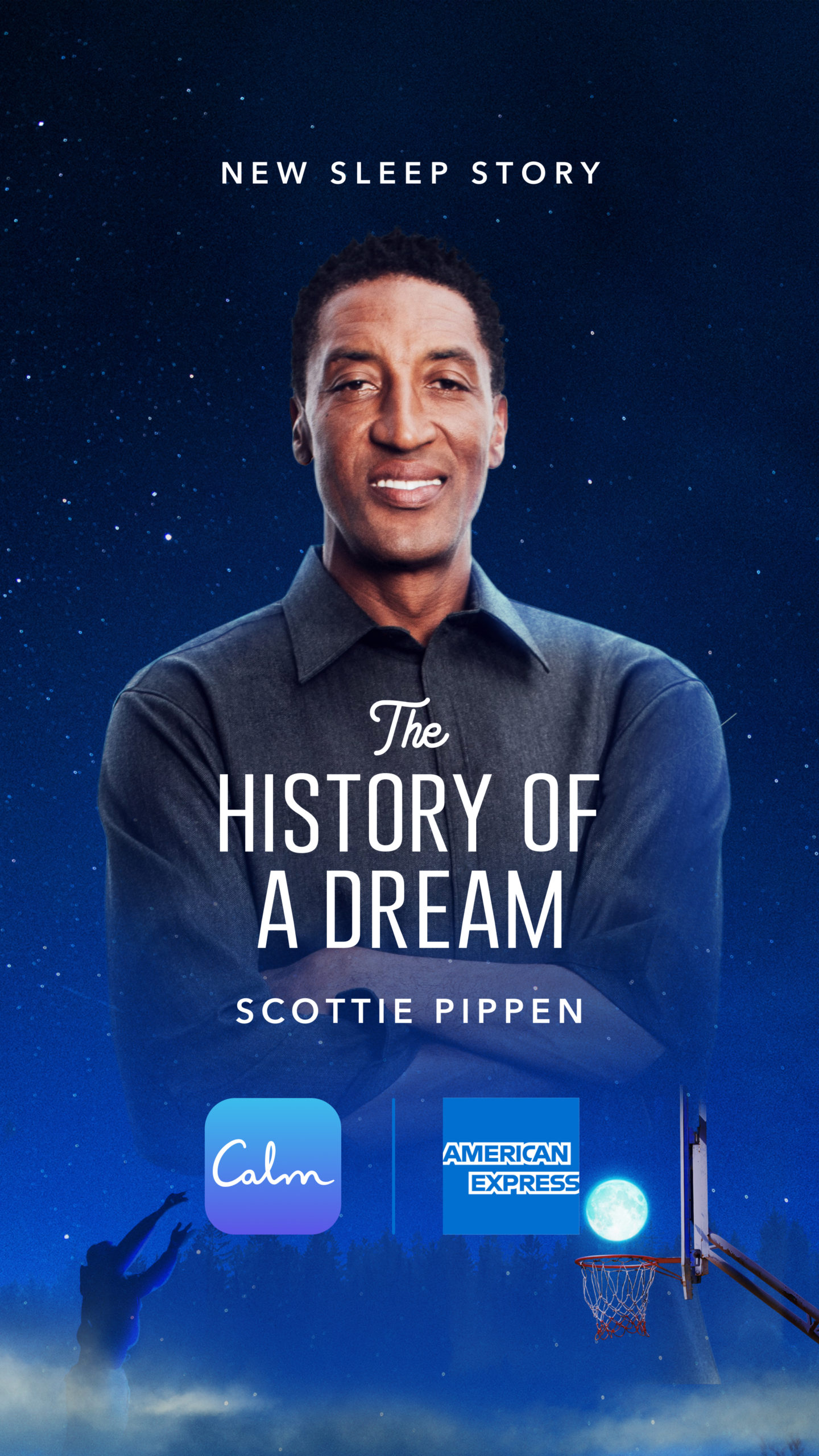 Scottie Pippen Debuts New Sleep Story with Calm & American Express
