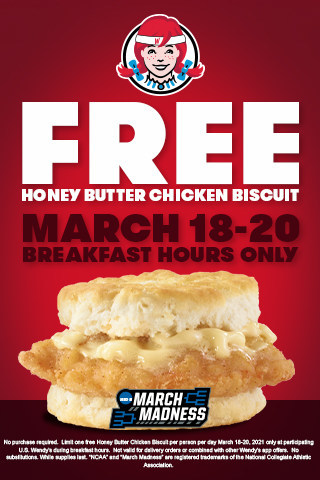 Official Breakfast of March Madness Wendy's Celebrates Return of NCAA Tournament